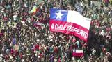 Massive crowds protest in Chile's Santiago
