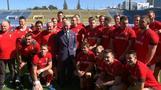 訪日中の英皇太子、ラグビーW杯のウェールズ代表を激励(字幕・23日)