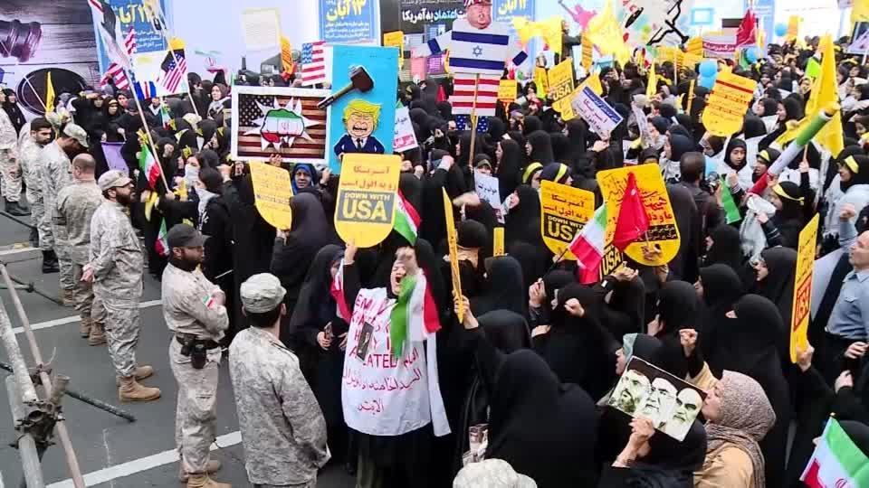 """Death to America"": Iranians mark 1979 U.S. embassy seizure"