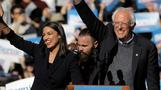 Ocasio-Cortez joins Sanders for rally in Iowa