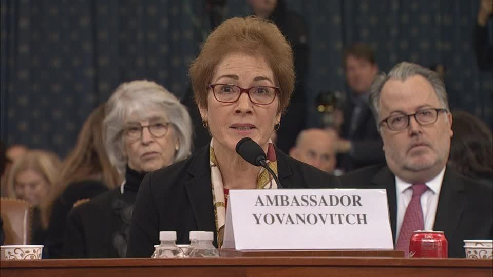 Trump attacks Yovanovitch as she testifies