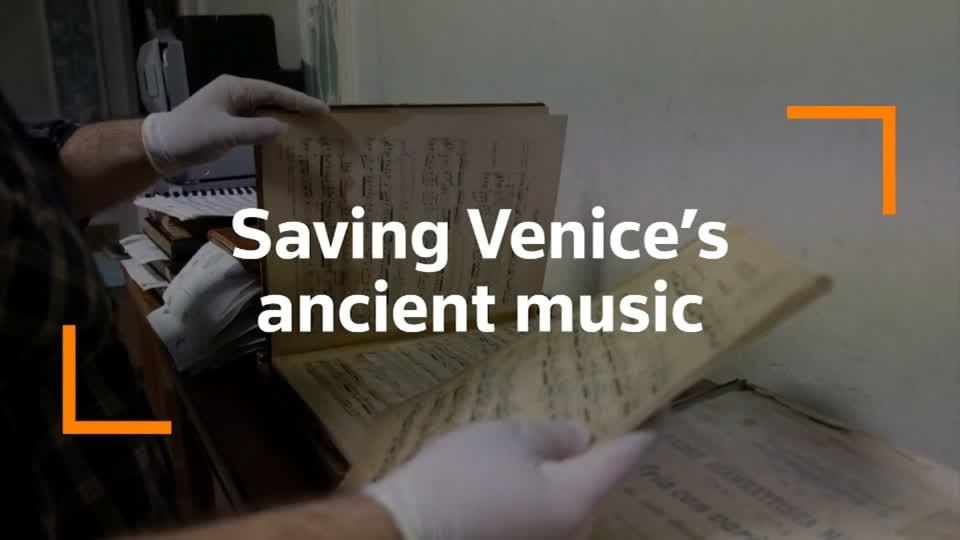 Ancient music scores saved from Venice floodwaters