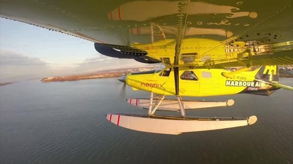 カナダで電気飛行機がテイクオフ、22年までの商用運航目指す(字幕・12日)