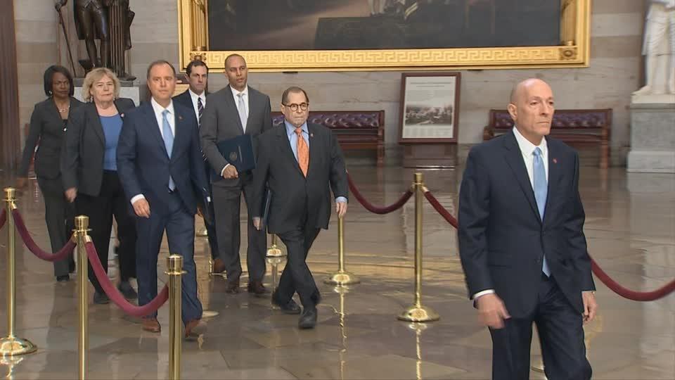 House Democrats say Trump endangers U.S. security