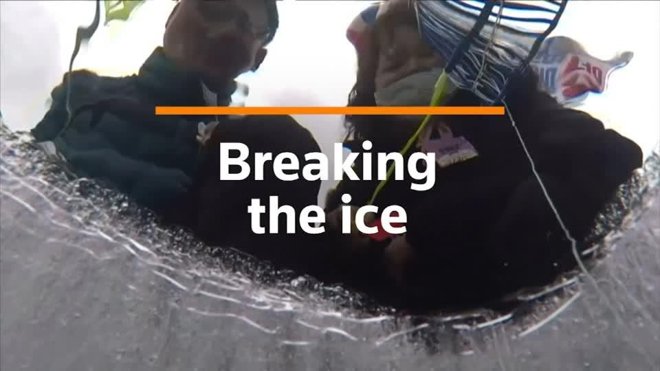 Thousands catch fish in icy water at South Korea festival