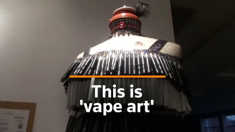 Artists use vape litter for crafts to urge recycling