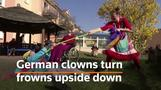 German clowns visit elderly homes amid lockdown