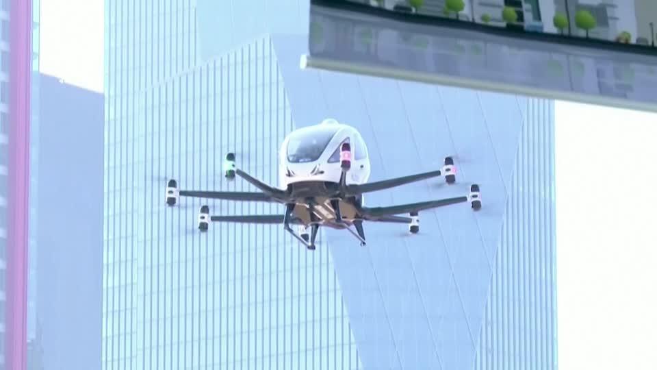 South Korea showcases drone taxi