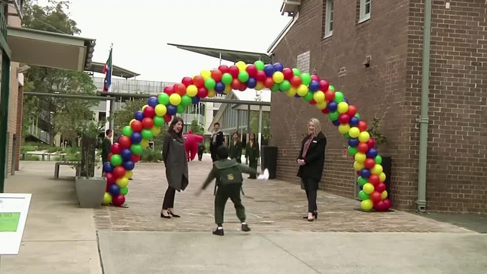 Back to school for kids in Australia's NSW