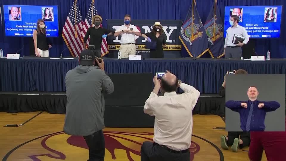Celebrities join Cuomo to promote coronavirus safety measures
