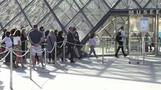Visitors rush to the Mona Lisa as the Louvre re-opens