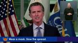 CA Governor stresses continued deadly impact of COVID-19