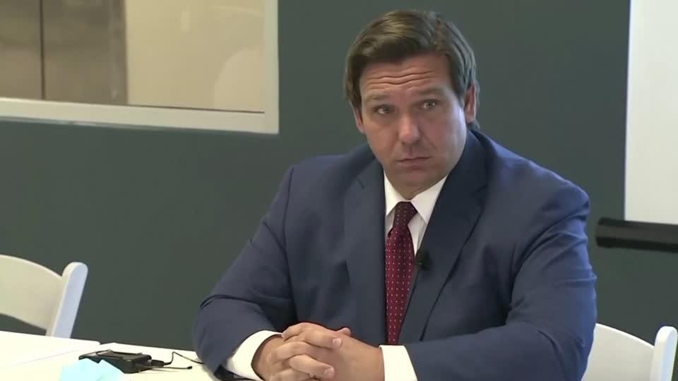 Florida governor grilled on COVID hospital data
