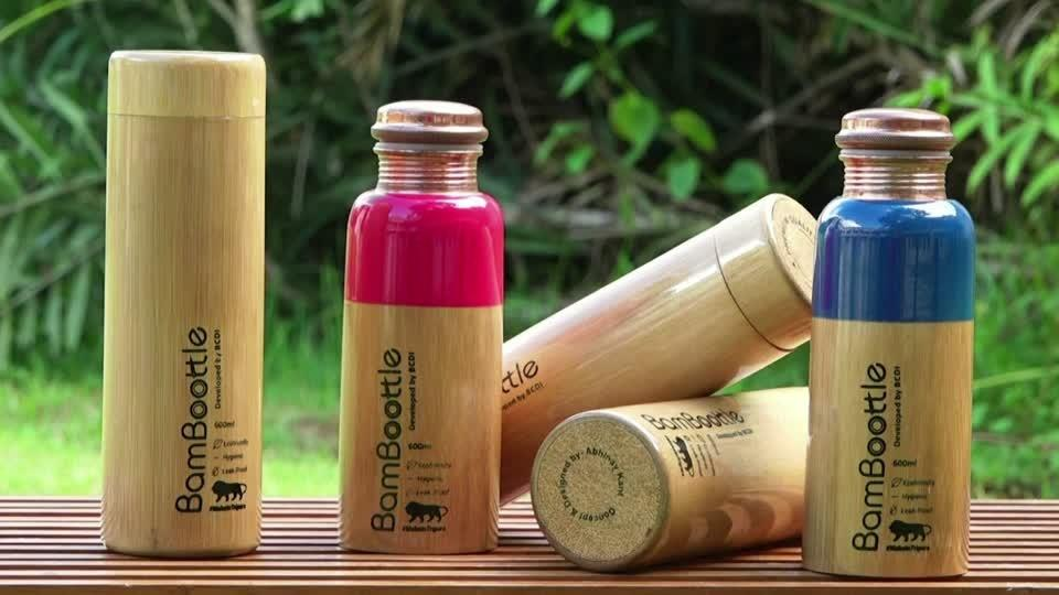 India's eco-friendly bamboo bottles are proving popular