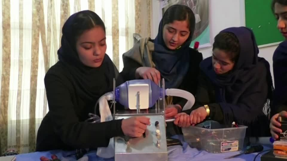 The school girls saving Afghanistan from COVID