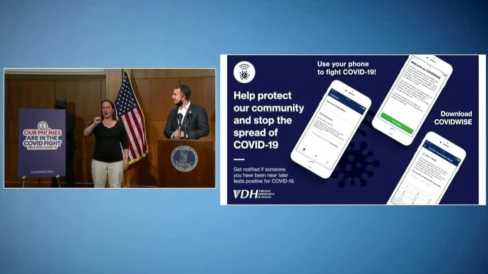 Virginia touts nation's first contact tracing app