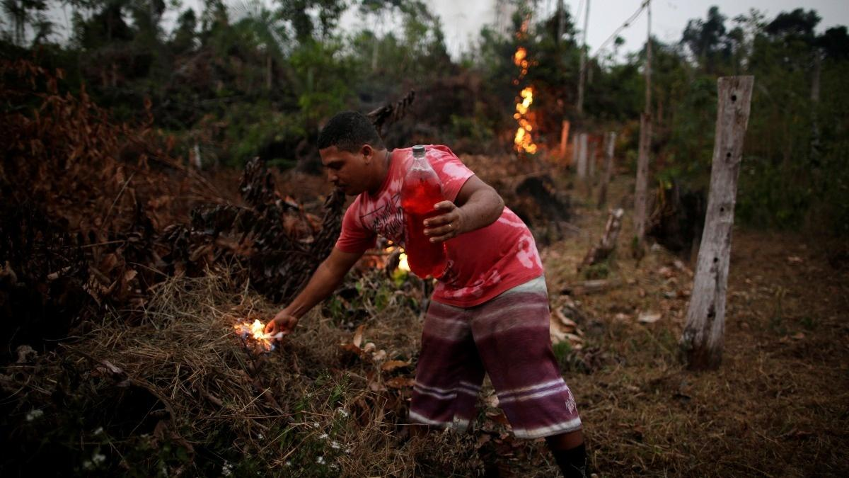 Fires that Bolsonaro calls 'lies' burn in Amazon