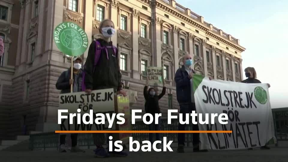 Climate change protests resume around in the world