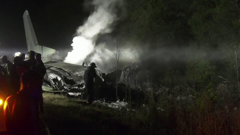 Military plane crashes in Ukraine