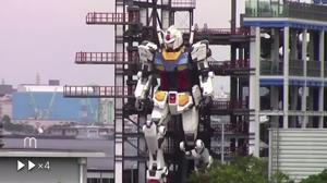 Japan's Gundam robot comes to life