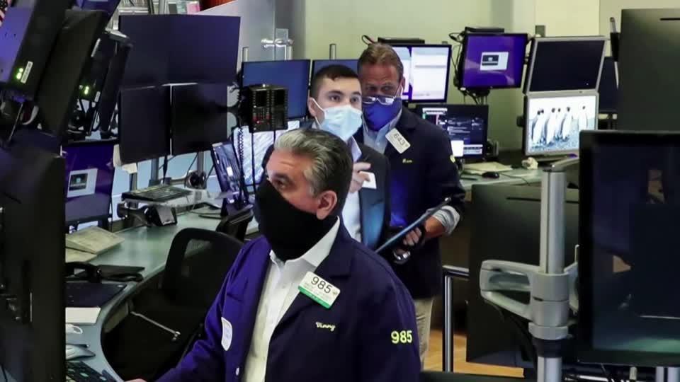 Stocks fall as stimulus progress stalls