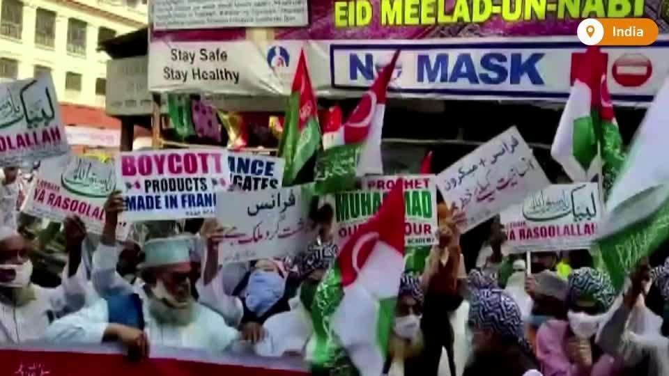 Muslims in India, Bangladesh protest cartoon