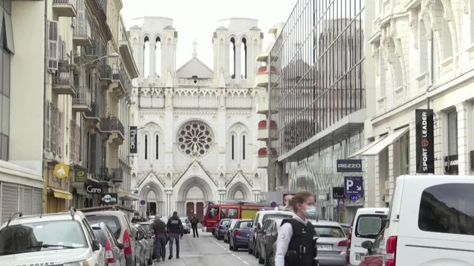 Three killed in knife attack at French church