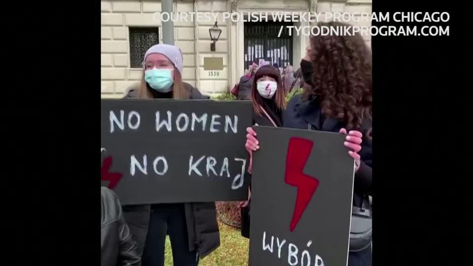 Poland's abortion protests go global