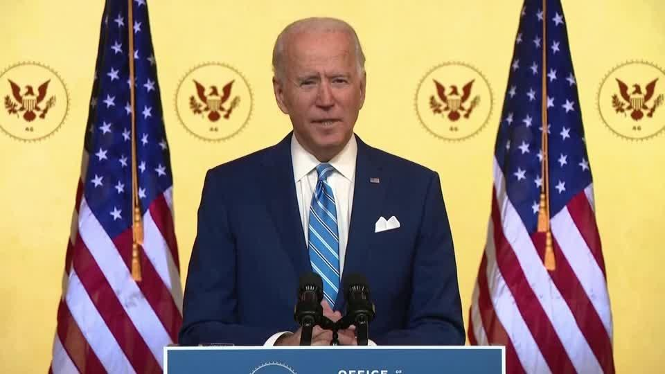 Biden urges Americans to be safe during holiday