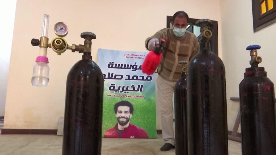 Liverpool's Salah donates COVID supply to hometown