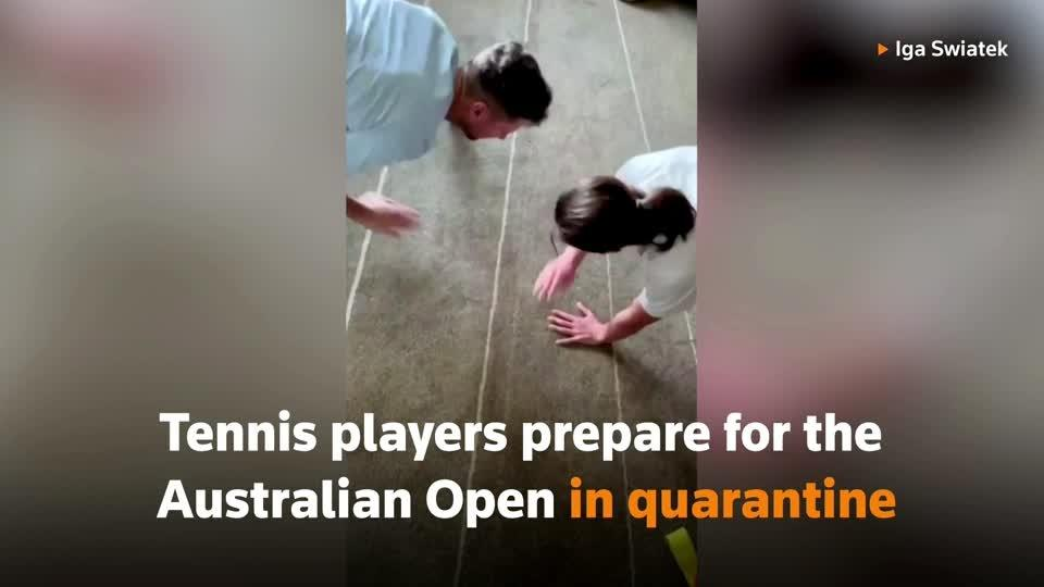 Tennis players get creative in quarantine