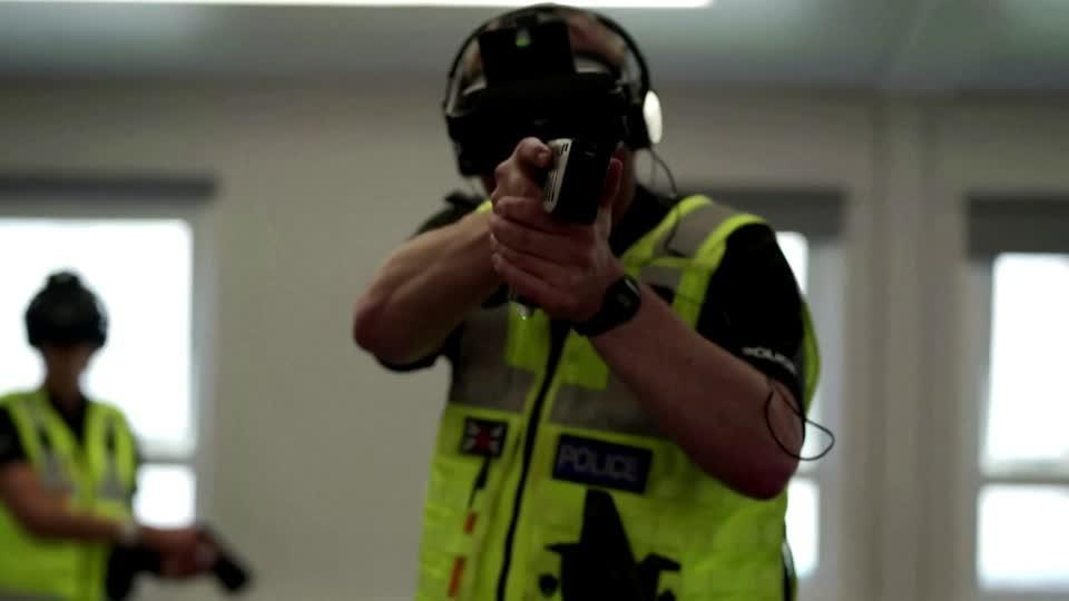 UK police take part in VR Taser training