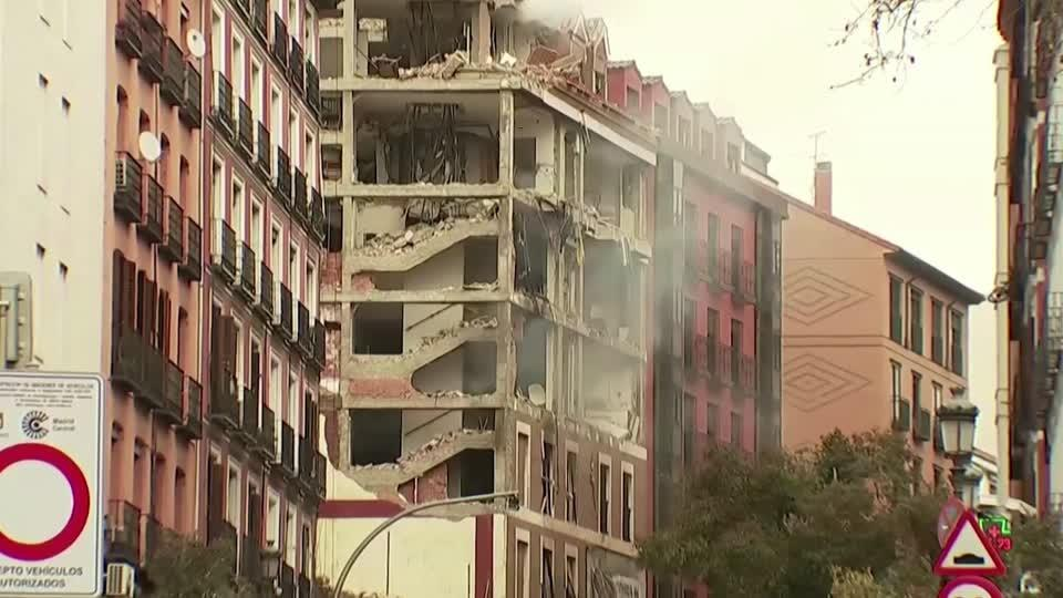 At least two dead after blast in central Madrid