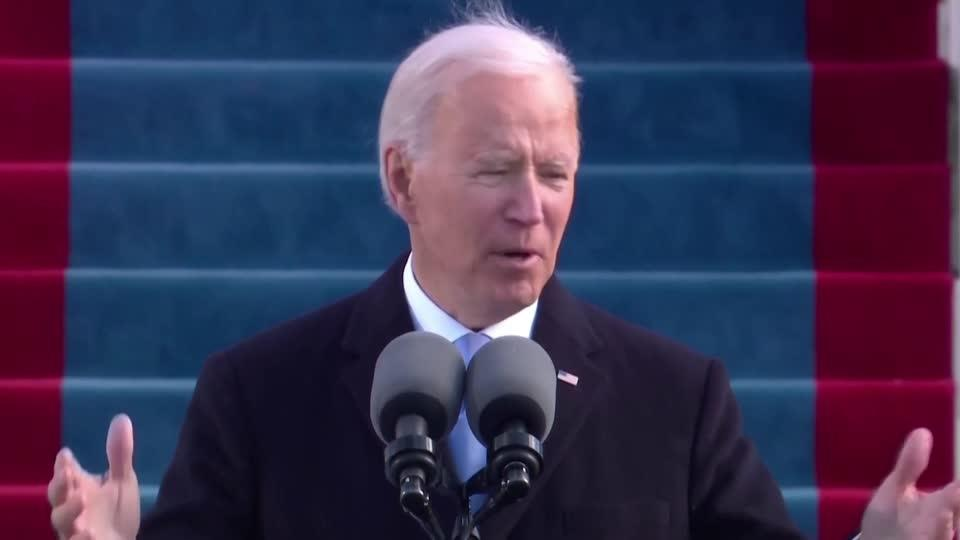 President Biden calls for end to 'uncivil war'