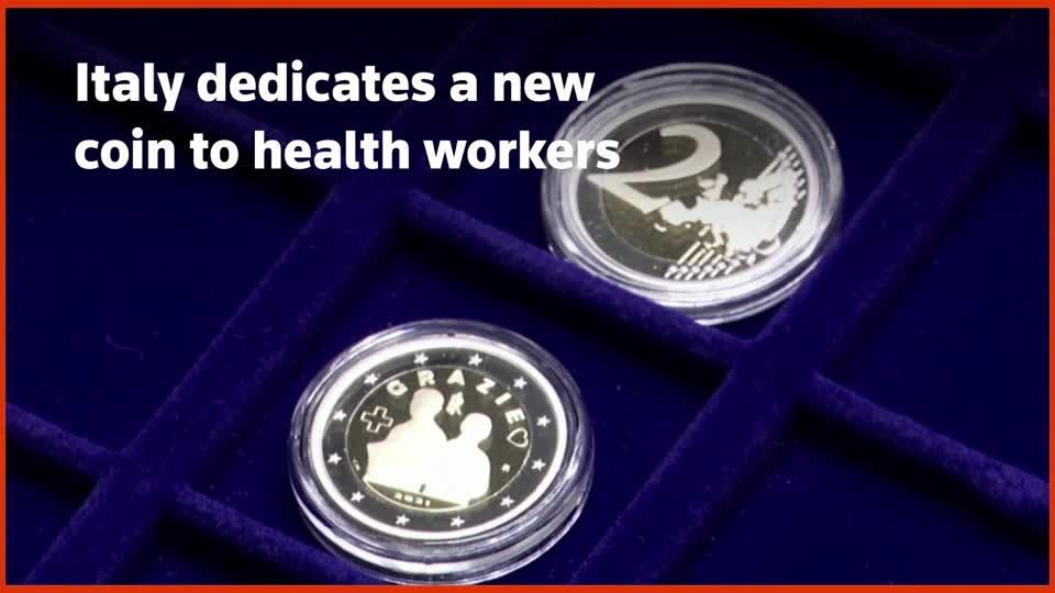 Italy dedicates 2 euro coin to health workers