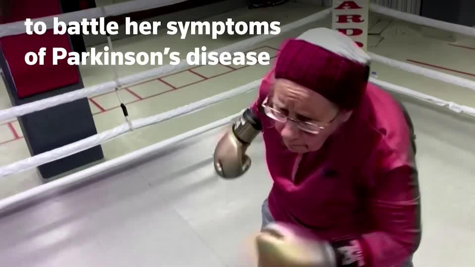 Boxing Granny knocks out Parkinson's symptoms