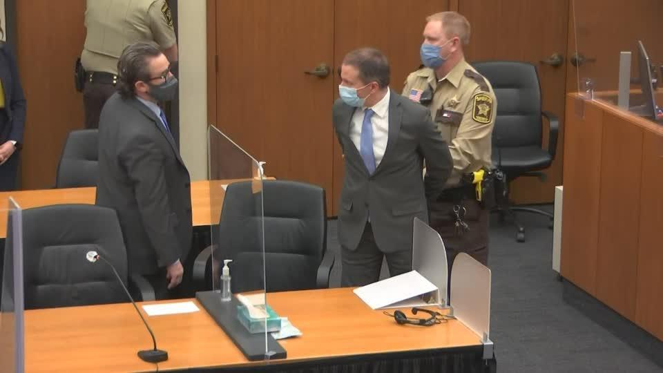 Ex-cop Chauvin found guilty of murder and handcuffed
