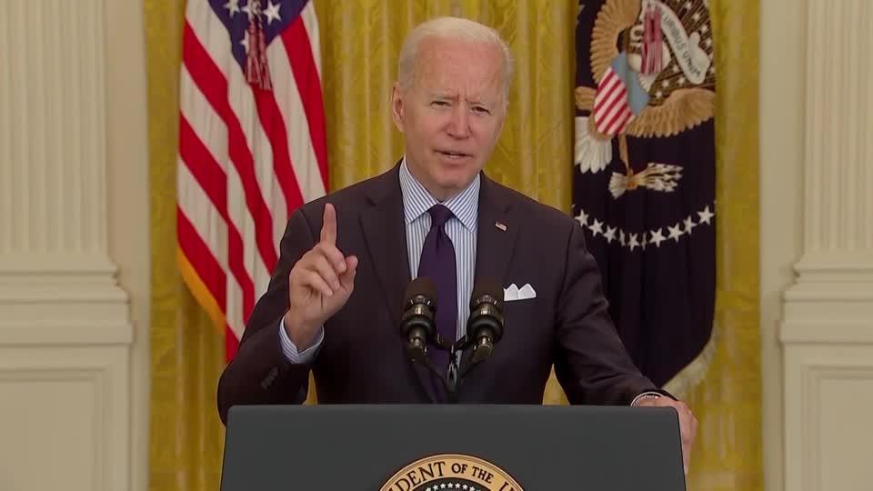 Jobs report shows 'long way to go' -Biden