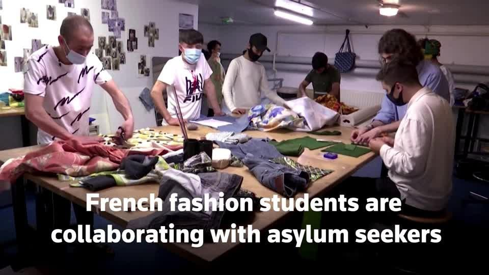 The refugees in Paris with a flair for fashion