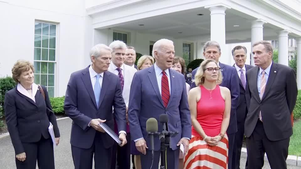 'We have a deal': Biden on infrastructure plan