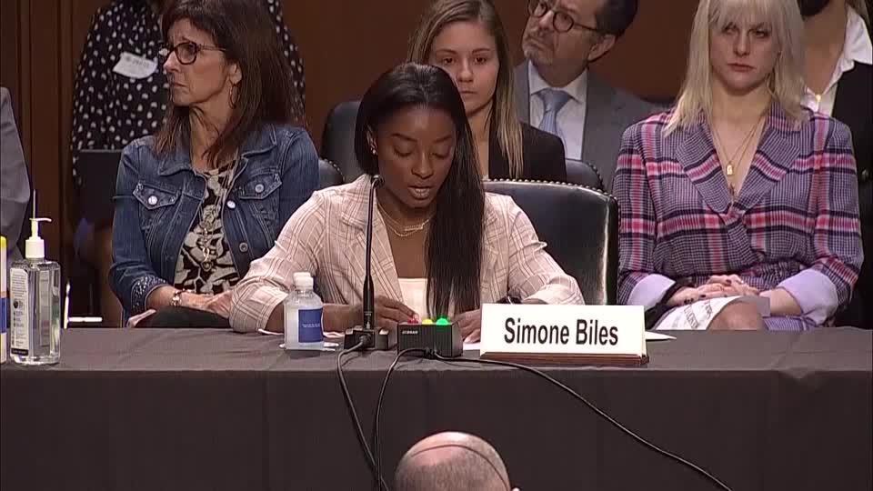 'I blame an entire system' - Simone Biles