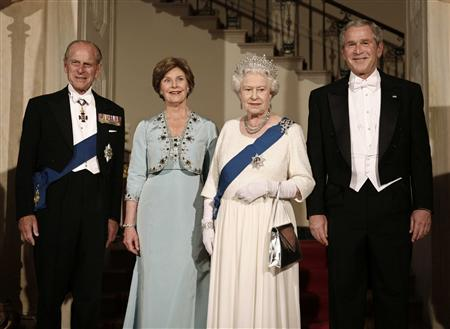 Image result for george bush and queen elizabeth