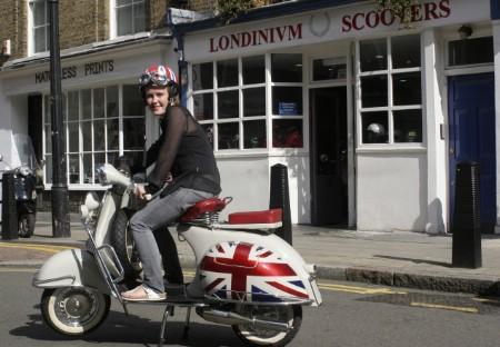 """london scooter fans love """"rebellious"""" vintage vespa"""