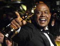 <p>L'attore Forrest Whitaker al party per gli Oscar di Vanity Fair a Hollywood, lo scorso febbraio. REUTERS/Chris Pizzello</p>