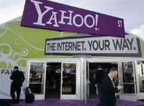 <p>Lo stand di Yahoo! durante la fiera dell'elettronica a Las Vegas nel gennaio scorso. REUTERS/Steve Marcus</p>