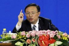 <p>Immagine d'archivio del ministro degli Esteri cinese Yang Jiechi. REUTERS</p>