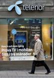 <p>L'opérateur norvégien Telenor a mandaté les banques Nordea et JPMorgan pour étudier une éventuelle fusion avec TeliaSonera, rapporte le quotidien suédois Svenska Dagbladet. /Photo d'archives/REUTERS/Bob Strong</p>
