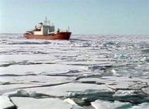 <p>Una nave russa nell'Artico. REUTERS/Reuters Television</p>