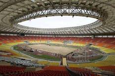 <p>Un'immagine dello stadio moscovita Luzhniki dove verrà disputata la finale di Champions League. REUTERS/Mikhail Voskresensky (RUSSIA)</p>