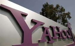 <p>Segnaletica per la sede centrale di Yahoo, a Sunnyvale, California. REUTERS/Robert Galbraith (UNITED STATES)</p>